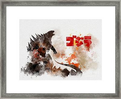 Godzilla Framed Print