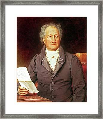 Goethe Framed Print by Joseph Carl Stieler