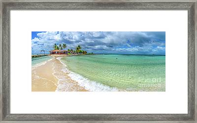 Goff's Caye Belize Pano Framed Print