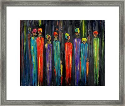Gogo And Dorris Framed Print by Marietjie Henning