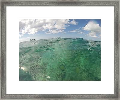 Goin' Caribbean Test Color Framed Print