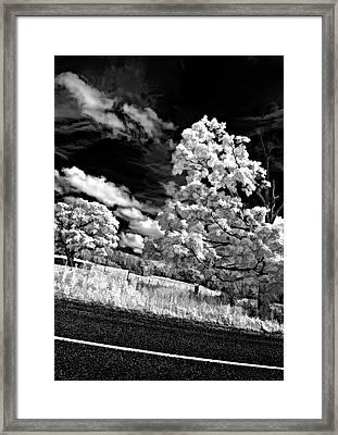 Goin' Down The Road Buzzed Framed Print by Steve Harrington