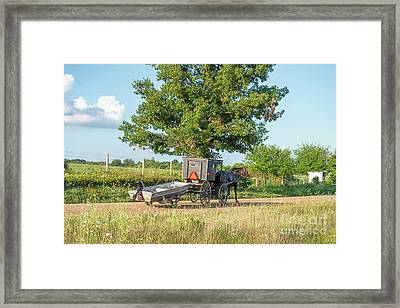 Goin Fishin Framed Print by David Arment