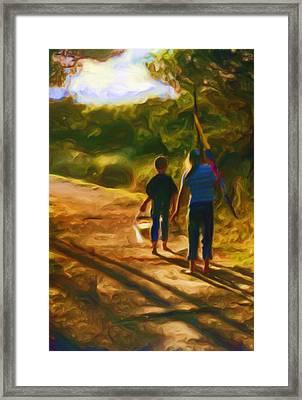 Goin To The Beach Framed Print by Shelley Bain