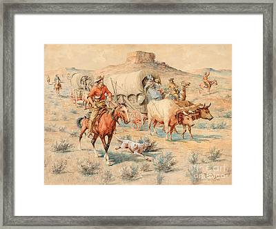 Goin' West Framed Print by Celestial Images