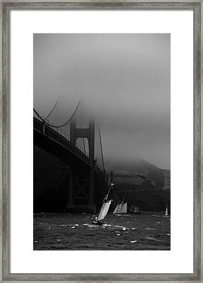 Going Around Traffic Framed Print