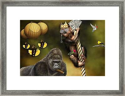 Going Bananas Framed Print by Marvin Blaine