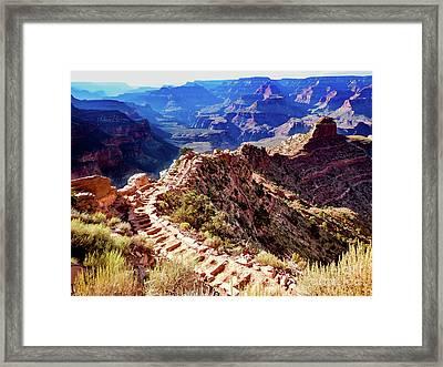 Going Down Framed Print