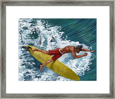 Going Down Under Framed Print by Hank Wilhite