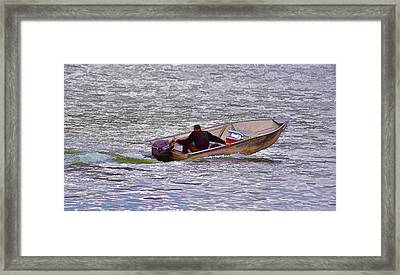Going Fishing Abstract I Framed Print
