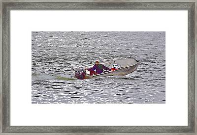 Going Fishing Abstract II Framed Print
