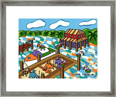 Going Fishing - Cedar Key Framed Print