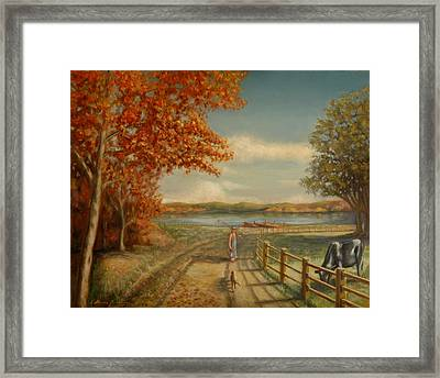 Going Fishing Framed Print by Lance Anderson