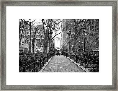Going For A Walk In Union Square Park Framed Print