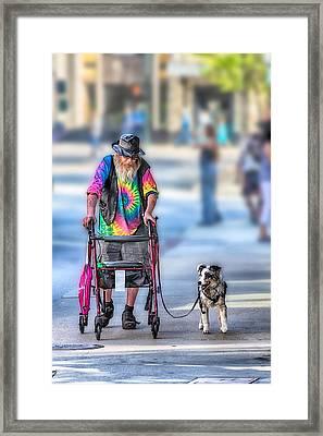 Going For A Walk Framed Print by John Haldane