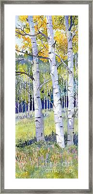 Going For Gold Framed Print by Lorraine Watry