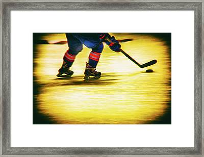Going For It Framed Print by Karol Livote