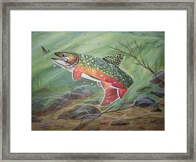 Going For It Framed Print by Wendy Smith