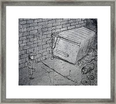 Going For The Foul Framed Print
