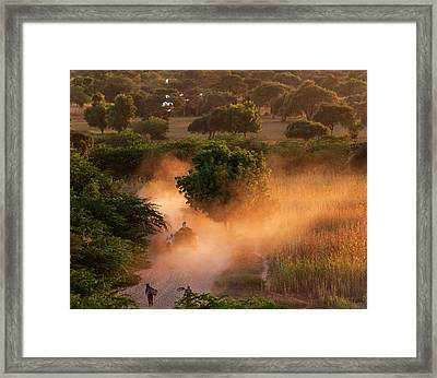 Framed Print featuring the photograph Going Home At Sunset by Pradeep Raja Prints