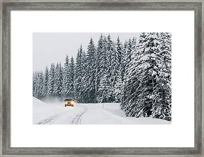 Going Home For Christmas Framed Print by Aldona Pivoriene