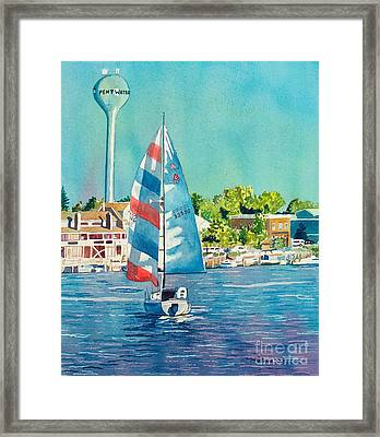 Framed Print featuring the painting Going Home by LeAnne Sowa