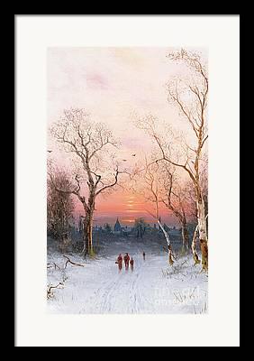 Freezing Paintings Framed Prints