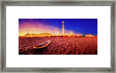 Going Home - Painterly - Santa Cruz Framed Print by Scott Campbell