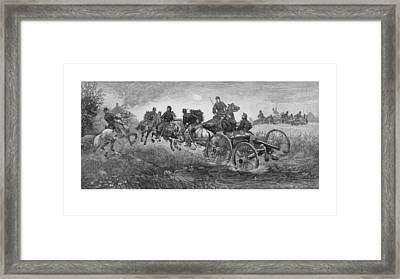 Going Into Battle - Civil War Framed Print by War Is Hell Store