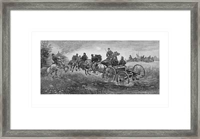 Going Into Battle - Civil War Framed Print