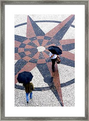Going North Going South - Umbrellas Series 1 Framed Print by Carlos Alvim