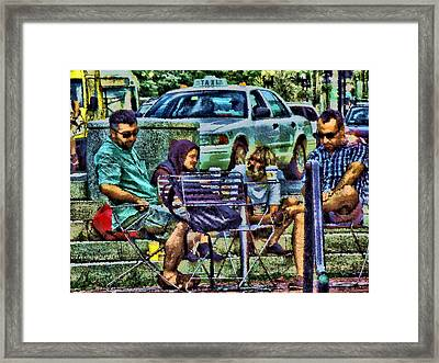 Going Places From Harvard Square Framed Print