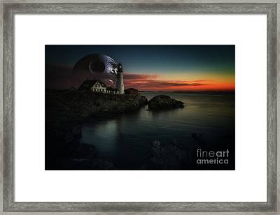 Going Rogue At Portland Head Framed Print