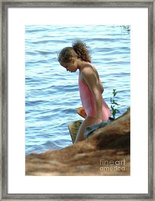 Going Swimming Framed Print by Georgia Sheron