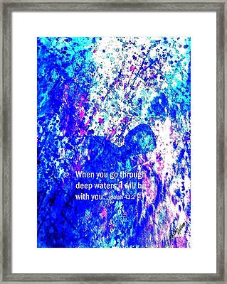 Framed Print featuring the painting Going Through Deep Waters by Hazel Holland