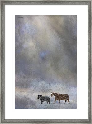 Going To Barn Framed Print by Ron Jones