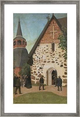 Going To Church Framed Print