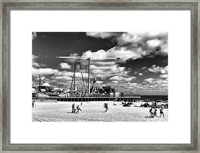 Going To The Beach Mono Framed Print by John Rizzuto