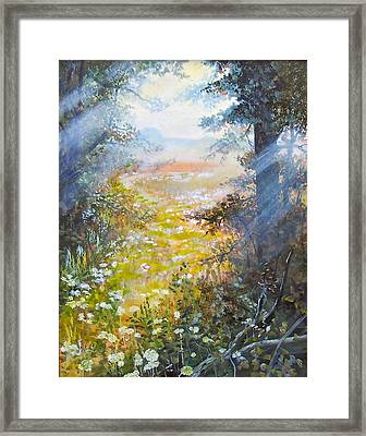 Going To The Dovefields  Sold Framed Print