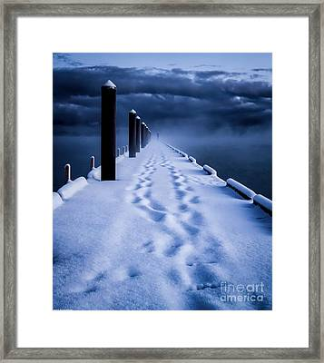 Going To The End Framed Print