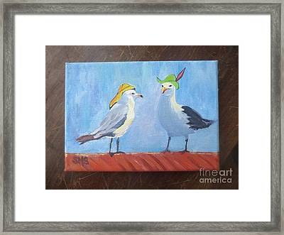 Going To The Hat Parade Framed Print by Stella Sherman