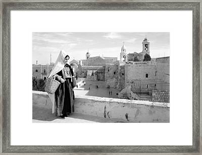 Going To The Market Framed Print by Munir Alawi