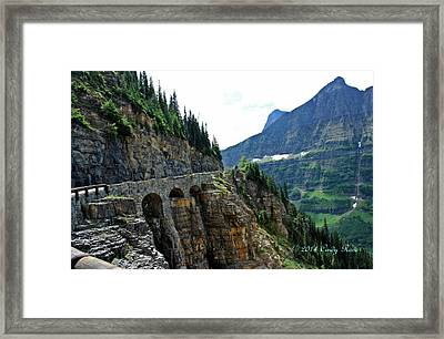 Going To The Sun Highway Framed Print by Cindy Rose