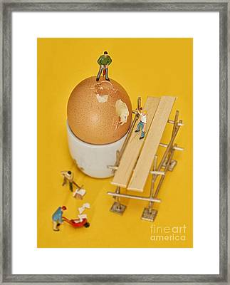 Going To Work On An Egg Framed Print by John Boud