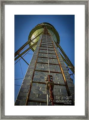Going Up Mary Leila Cotton Mill Water Tower Art Framed Print