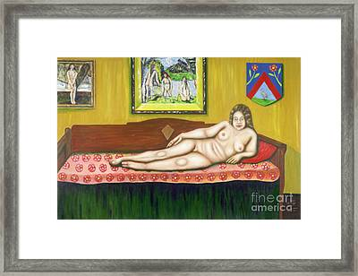 Gok With Munch And Cezanne Framed Print by Neil Trapp