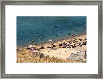 Gokceada Beach Framed Print