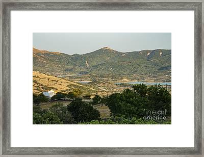 Gokceada Island Landscape Framed Print