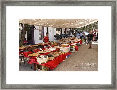 Gokceada Market Day Framed Print