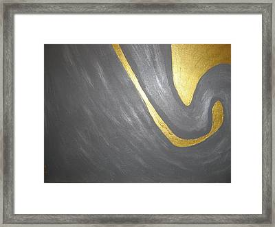 Gold And Gray Framed Print